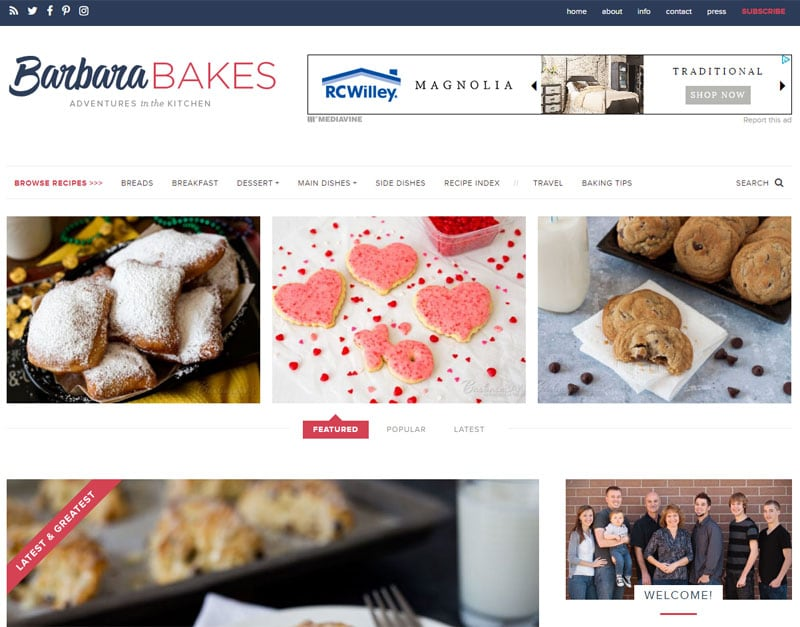 Barbara Bakes Redesign - Barbara Bakes has a brand new, sleeker, faster, better looking design!