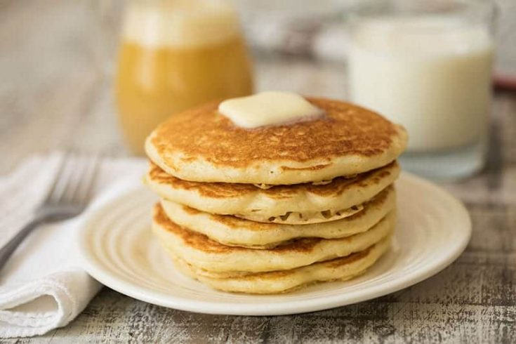 Melt in Your Mouth Buttermilk Pancakes with Buttermilk Syrup