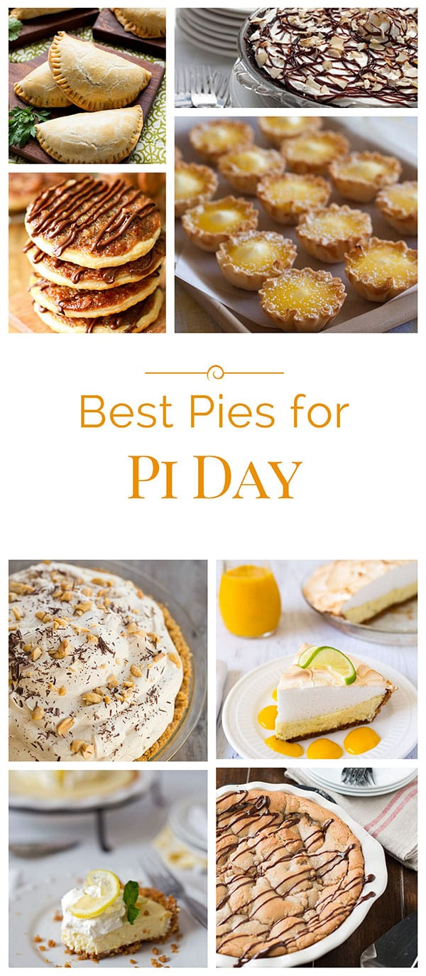 A roundup of the best pies for Pi Day on Barbara Bakes and around the web to help you celebrate Pi Day - March 14 (Pi is 3.14).