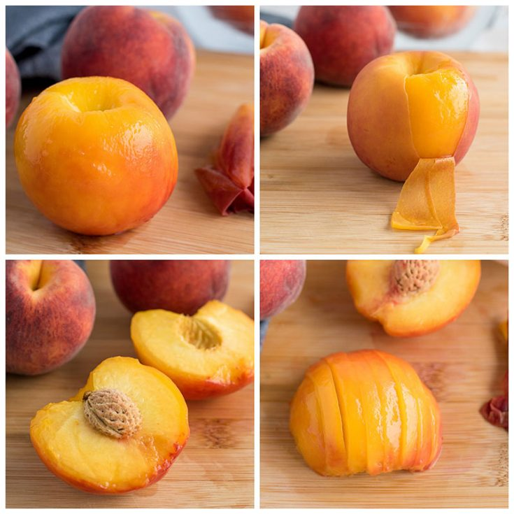 How To Slice Peaches