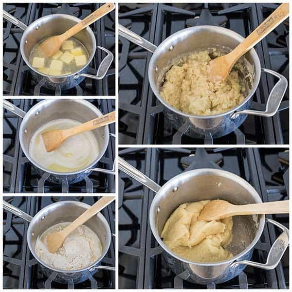Making Pâte à Choux for a Triple Berry Choux Cake.