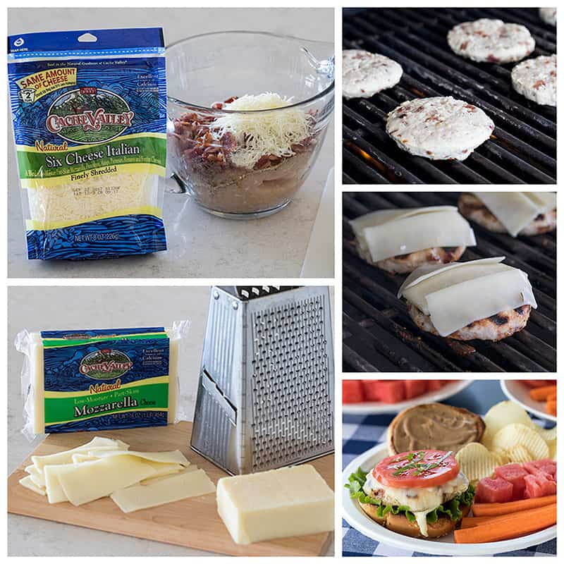 Making Chicken Caprese Burgers with Cache Valley Cheeses
