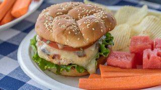 Chicken Caprese Burger