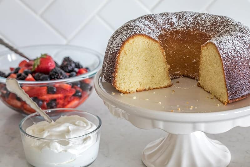 This Classic Vanilla Bundt Cake may be the perfect vanilla bundt cake. It's tender and moist, slices beautifully.