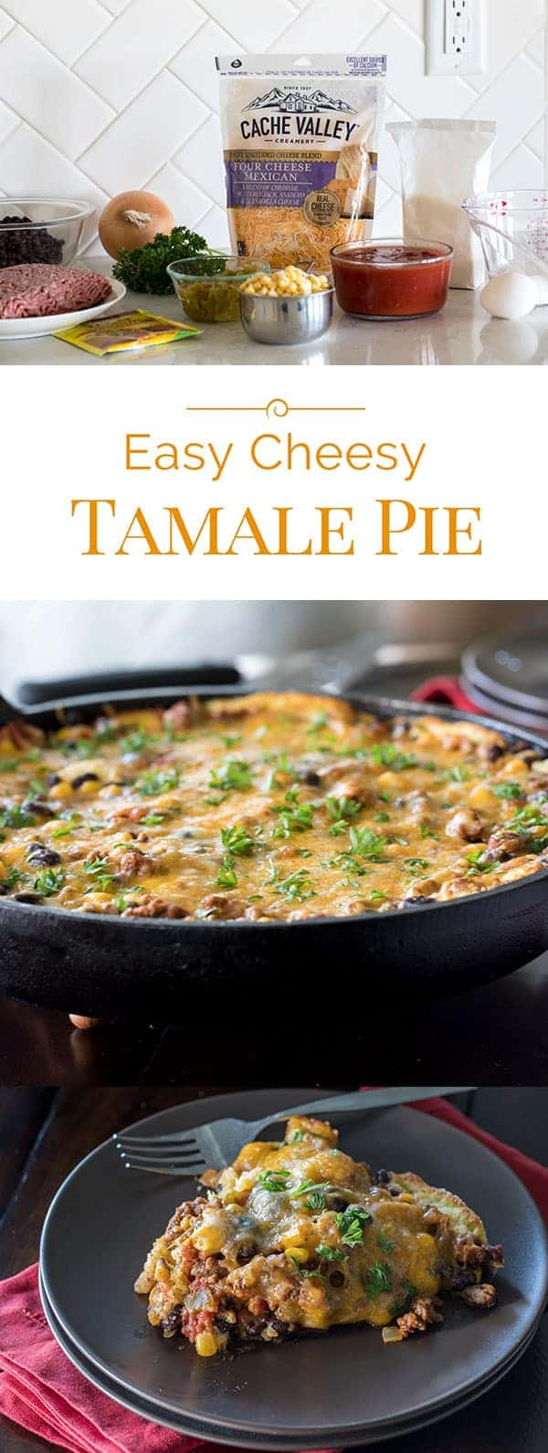 You can make this Easy Cheesy Tamale Pie with ingredients you probably already have on hand. It's perfect now that kids are back to school and cool weather is right around the corner.