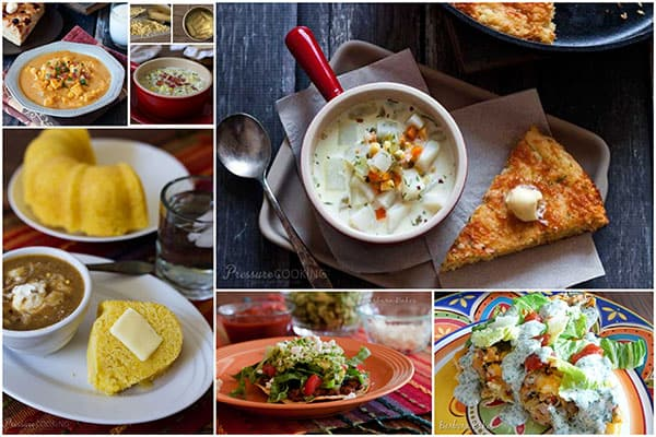 A collection of images of favorite fresh corn recipes.