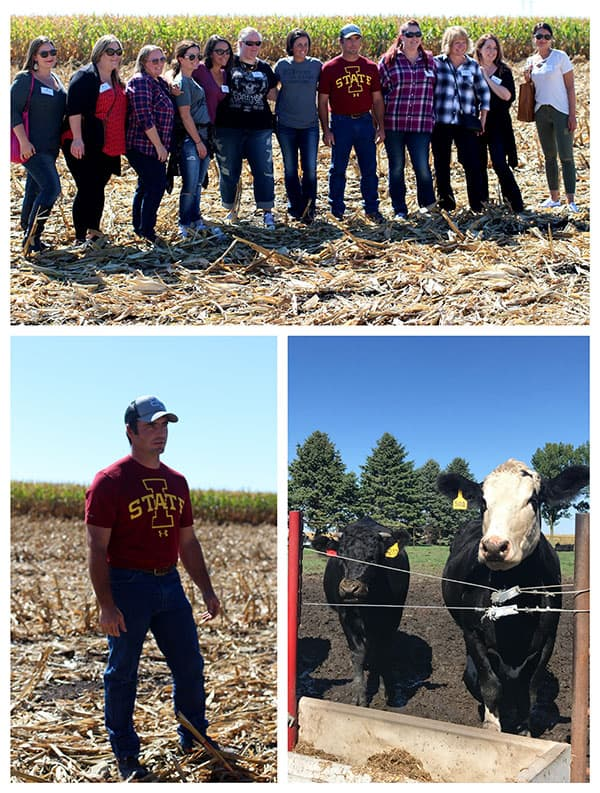 First stop at the IA CornQuest -  the Blair Farm to learn about ethanol and cattle feed.