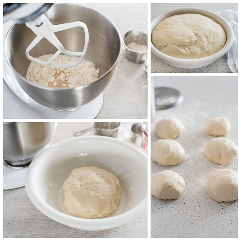Making the calzone dough