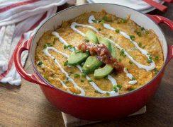 Chorizo Corn Black Bean Mexican Breakfast Casserole