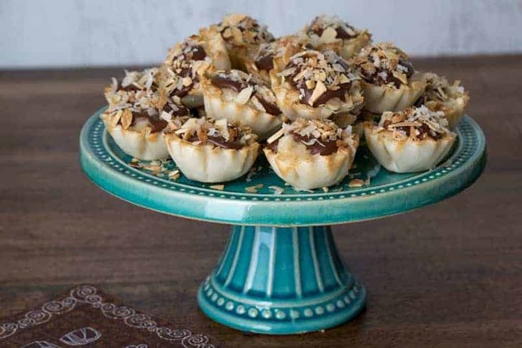 Mini Chocolate Almond Coconut Pies