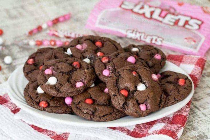 Fudgy Chocolate Sixlets Cookies