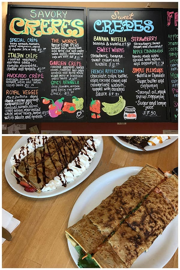 Sweet and Savory Crepes at Crepes Bistro