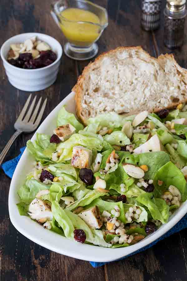 This Butter Lettuce Couscous Salad is quick and easy to make and great served warm, cold, or at room temperature.