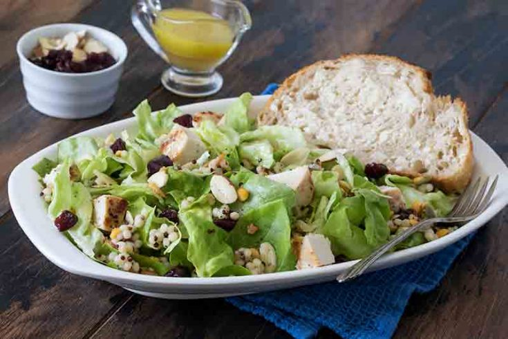 Butter Lettuce Couscous Salad With Chicken And Cranberries