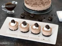 Four individual servings of Frozen Oreo Pie