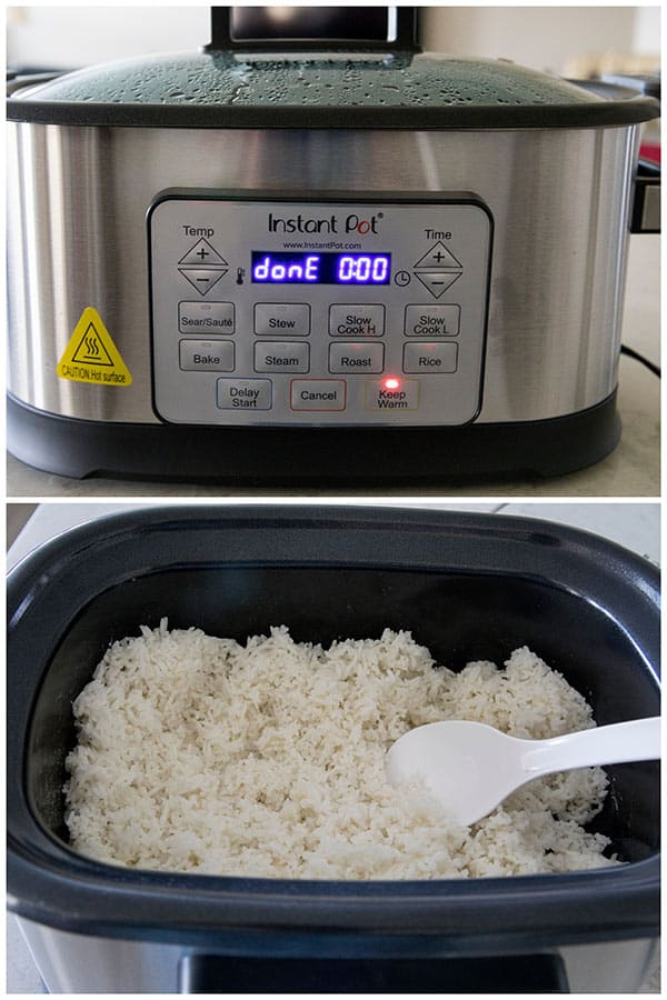 Making rice in the Instant Pot Gem Multicooker