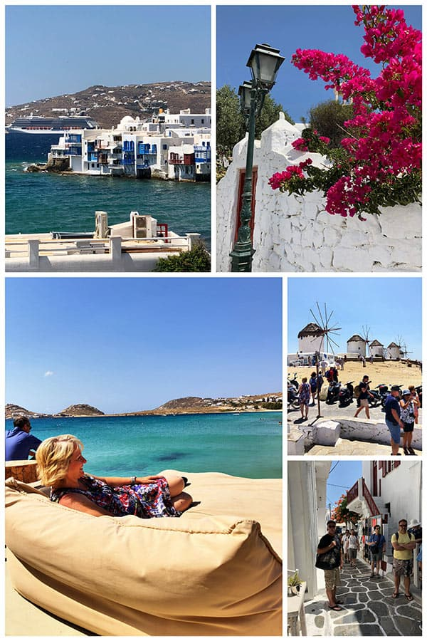 The beautiful island of Mykonos, Greece