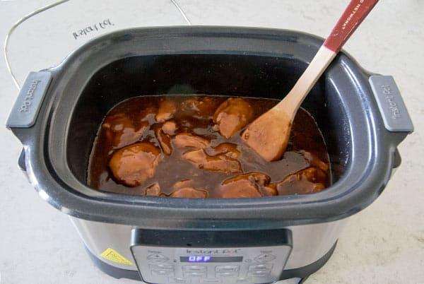 Making Spicy Honey Garlic Chicken in the Instant Pot Gem Multicooker
