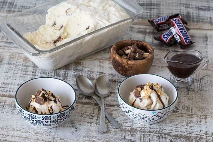 The Best Homemade Snickers Ice Cream