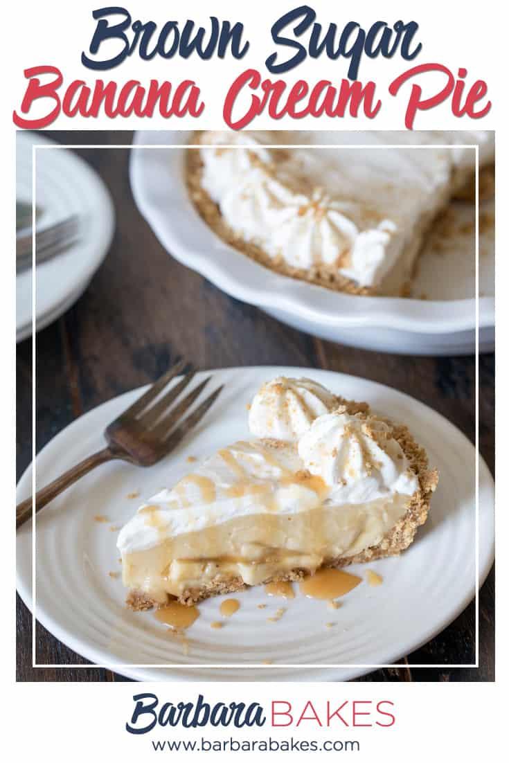 Brown Sugar Banana Cream Pie via @barbarabakes