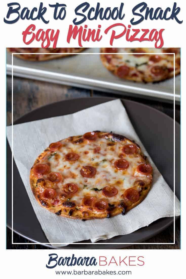Easy Mini Pizza snack via @barbarabakes