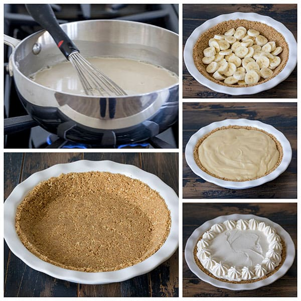 Making Brown Sugar Banana Cream Pie