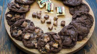 Triple Chocolate Milky Way Cookies