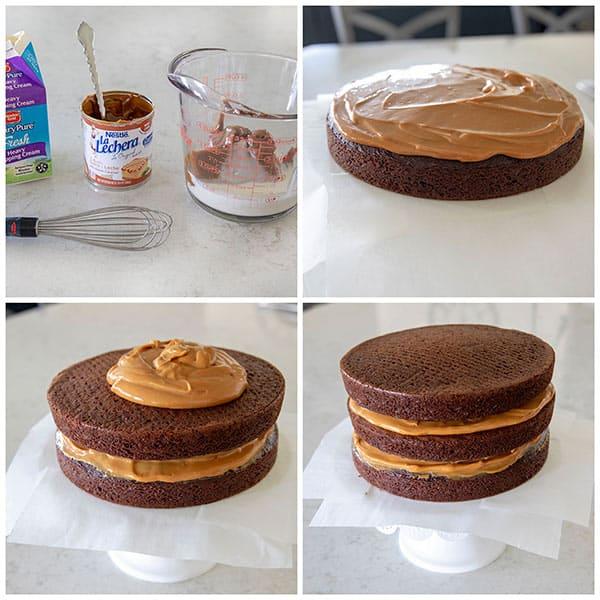Making a Dulce De Leche Cake Filling