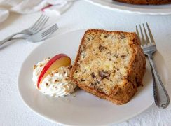 Apple Pecan Pound Cake loaded with apples, pecans and coconut. A perfect cake for fall.