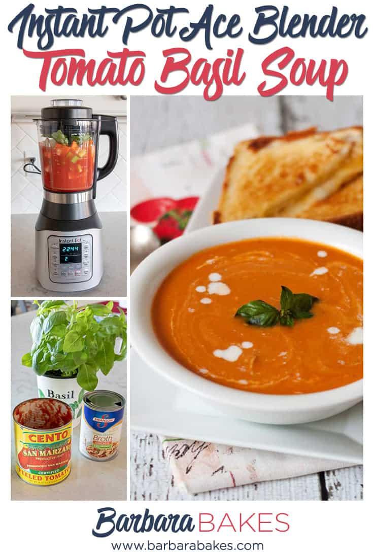 Ace Blender Fresh Tomato Basil Soup via @barbarabakes