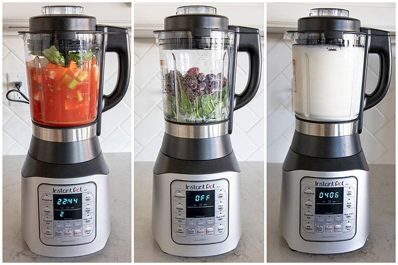 The Ace Blender uses Instant Pot's advanced microprocessor technology and has 8 Smart Built-In One-Touch programs: Smoothie, Purée, Ice Cream, Soy, Rice, Nut/Oat Milks, Soup and, Crushed Ice programs.