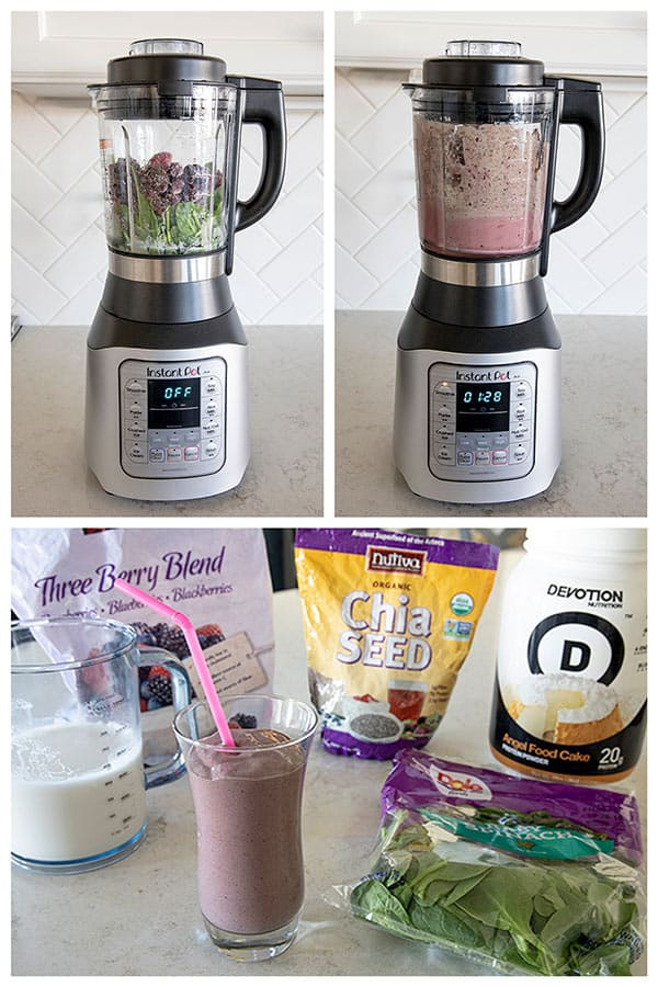 Making a smoothie in the Instant Pot Ace Blender