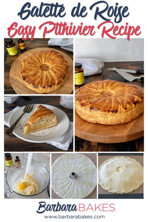 Easy Pithivier Recipe aka King Cake or Galette de Roise (made with puff pastry, almond paste, lemon extract)