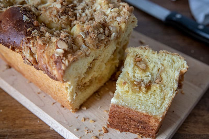 Lemon Streusel Twisted Babka Sliced