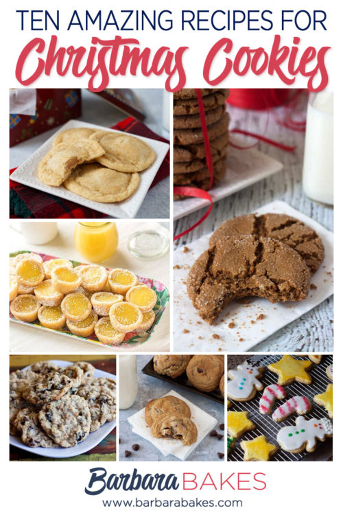 The Ten Best Recipes for Christmas Cookies - Round Up from Barbara Bakes