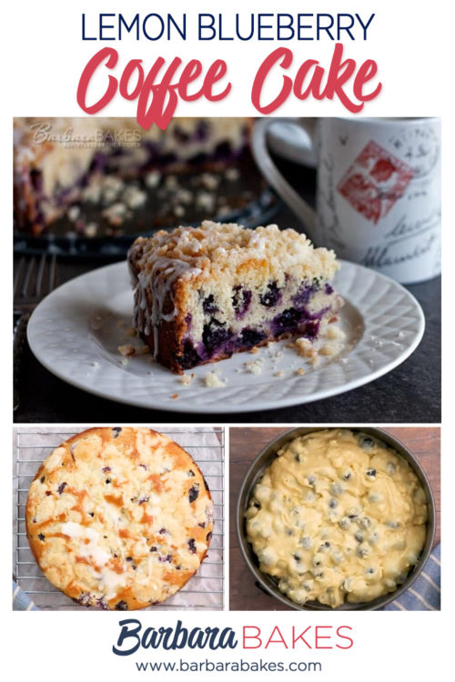 Easy Lemon Blueberry Coffee Cake with Streusel Topping and Lemon Glaze
