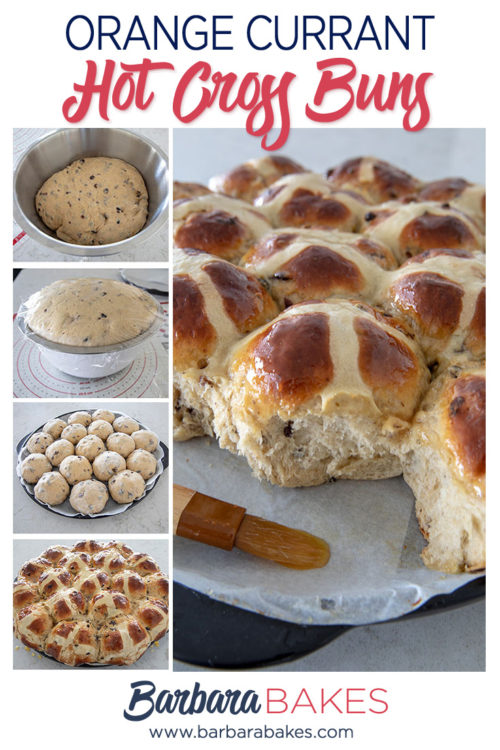 Orange Currant Hot Cross Buns by Barbara Bakes