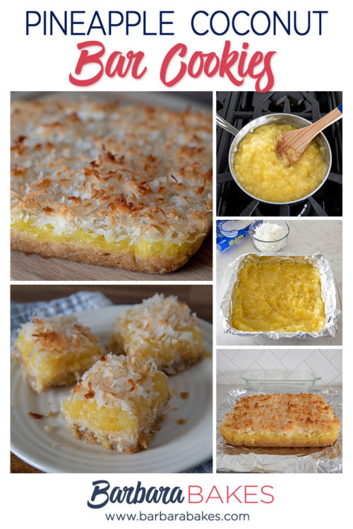 Pineapple Coconut Bar Cookies