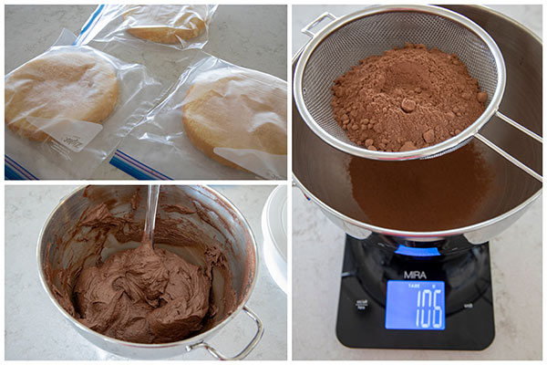Making chocolate frosting