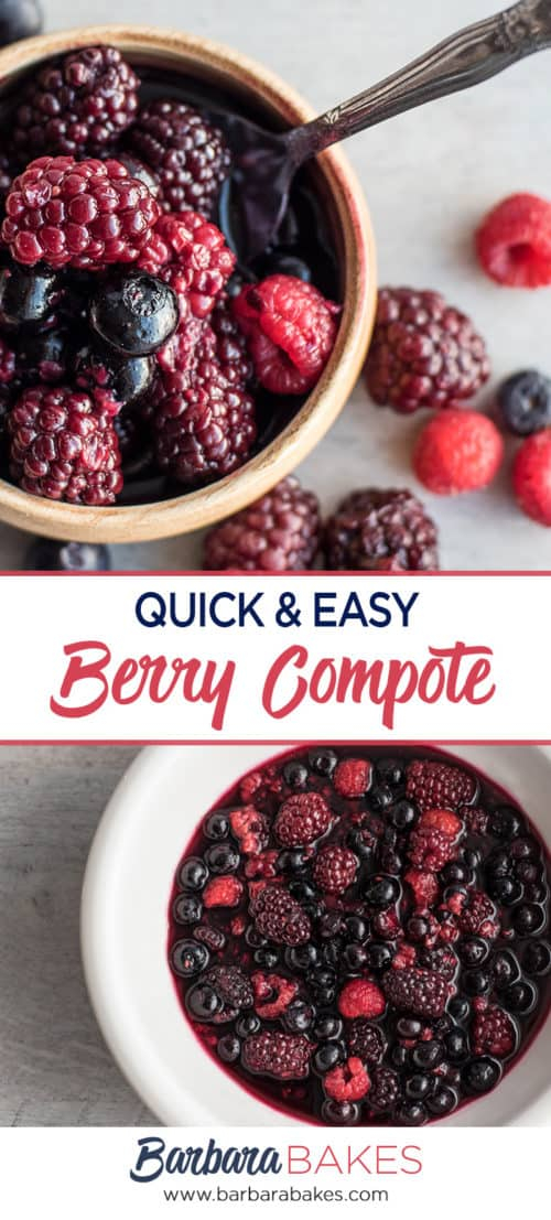 Quick and Easy Homemade Berry Compote