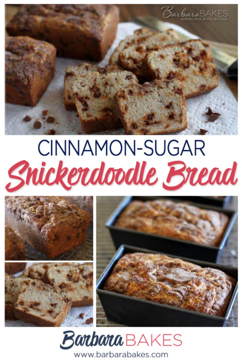 Cinnamon Sugar Topped Snickerdoodle Bread with Cinnamon Chips by Barbara Bakes
