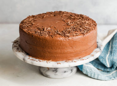 Hershey's Perfectly Chocolate Chocolate Cake Decorated With Shave Chocolate