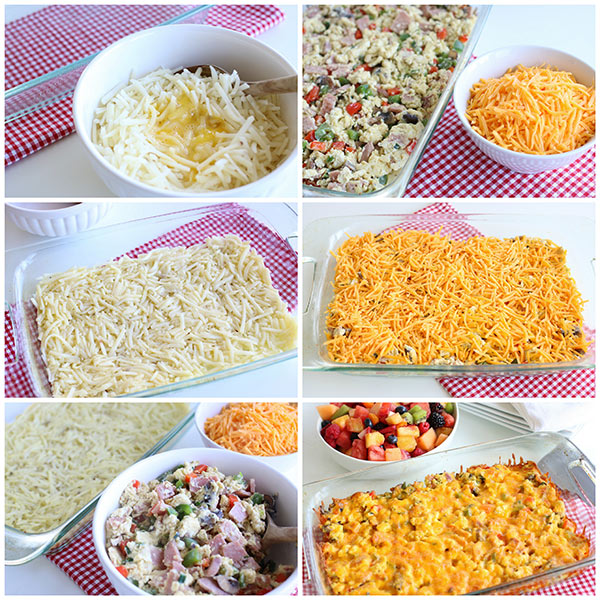 Step by step photos of make Breakfast Hashbrown Casserole