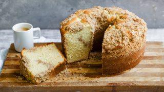Homemade Corner Bakery Cinnamon Creme Coffee Cake