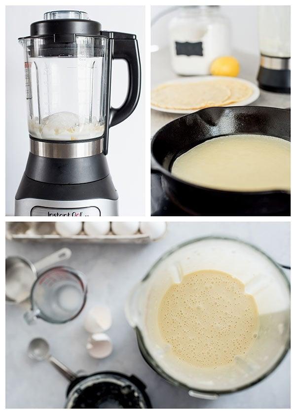 Making Lemon Ricotta Crepes