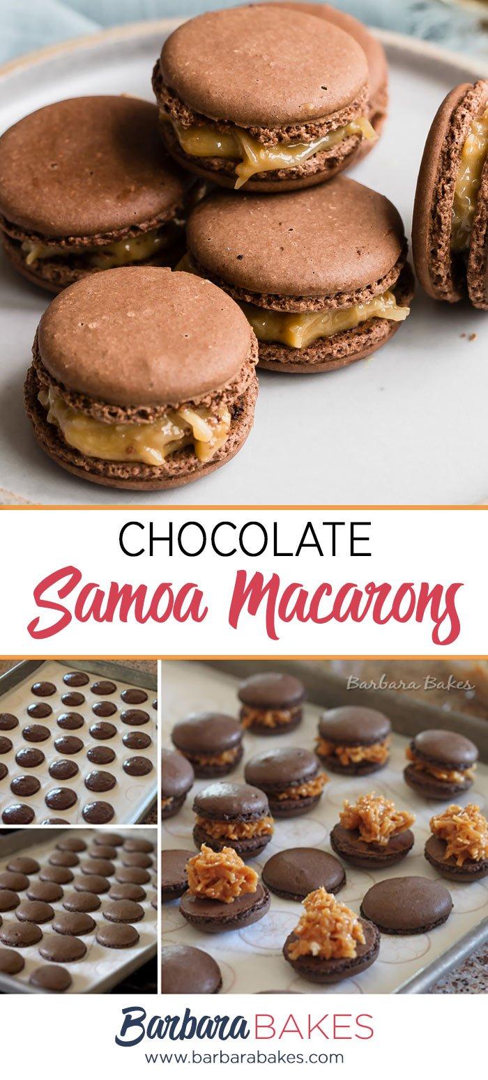 Making Samoa Macarons