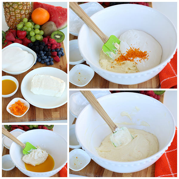 Making Creamy Orange Fruit Dip