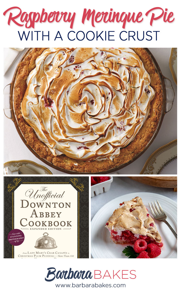Raspberry Meringue Pie with a Cookie Crust from The Unofficial Downton Abbey Cookbook