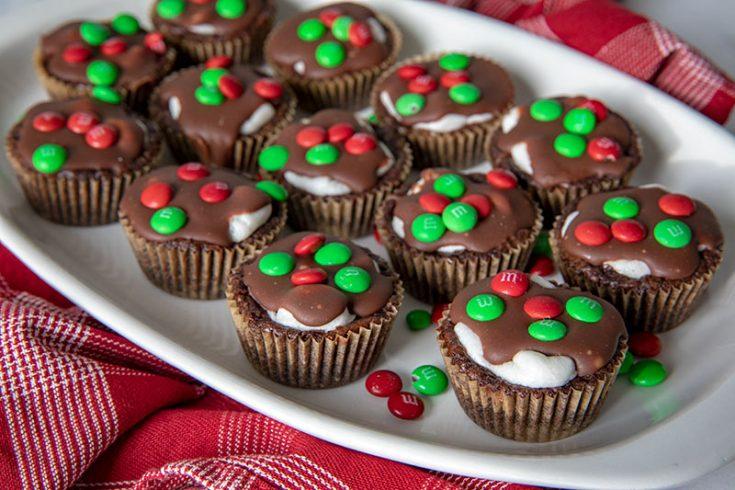 Mini Marshmallow Surprise Brownies