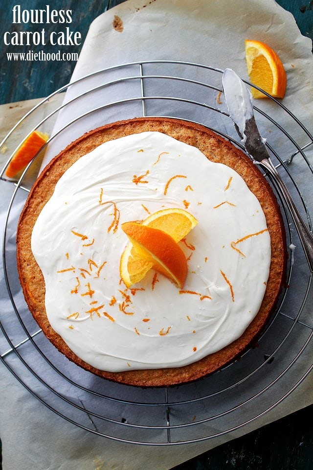 Flourless Carrot Cake with Mascarpone Frosting Recipe